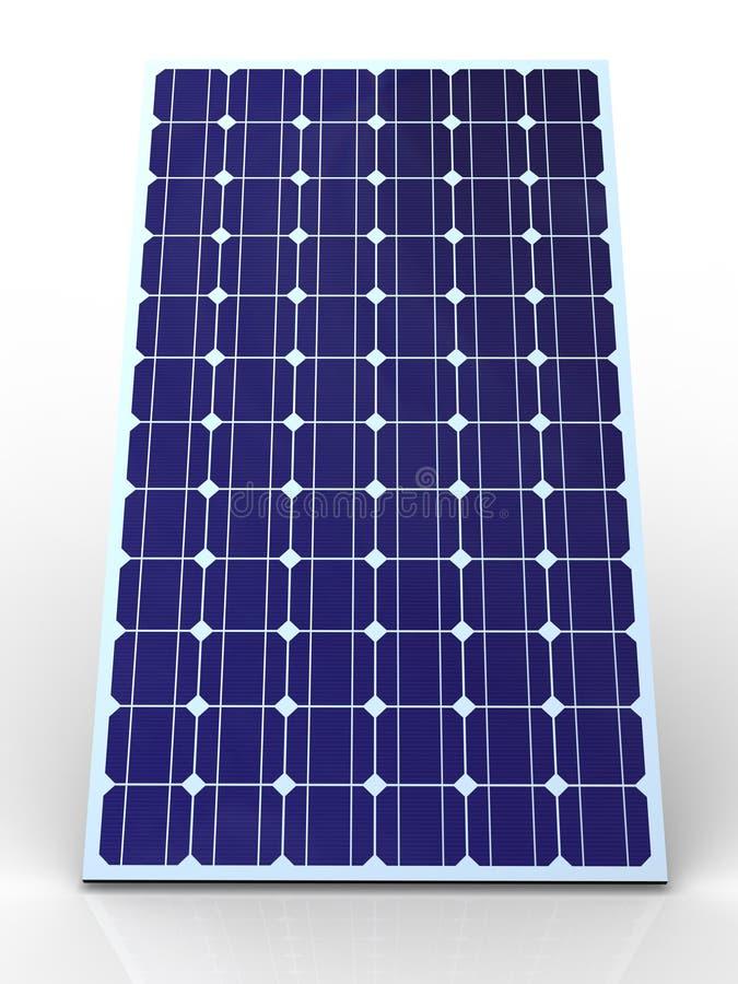 Blauer Sonnenkollektor lizenzfreie abbildung