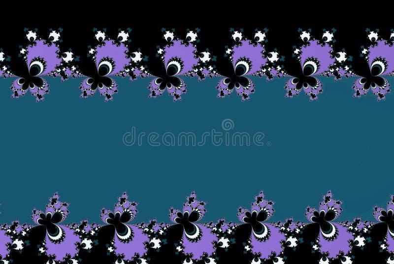 blauer Spitze Fractal blüht Form mit einem Kopienraum in schattierter gezierter Farbe lizenzfreie abbildung