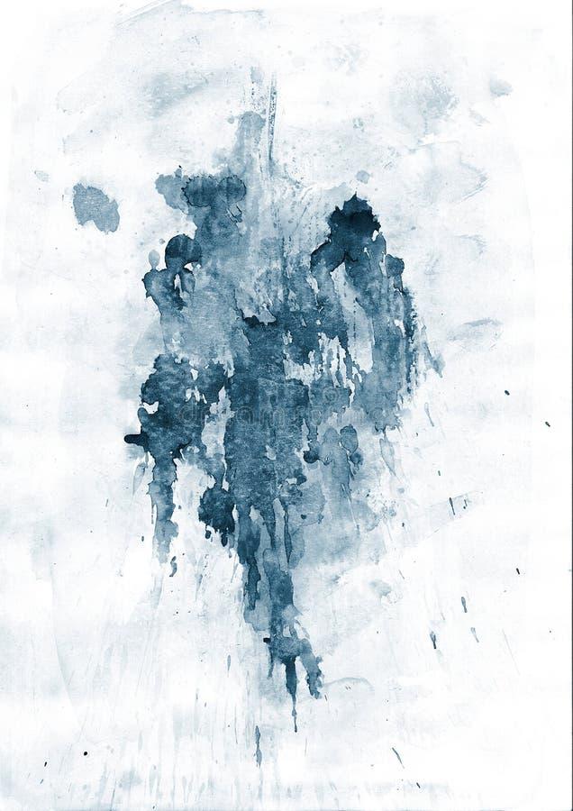 Blauer Splatter lizenzfreie abbildung