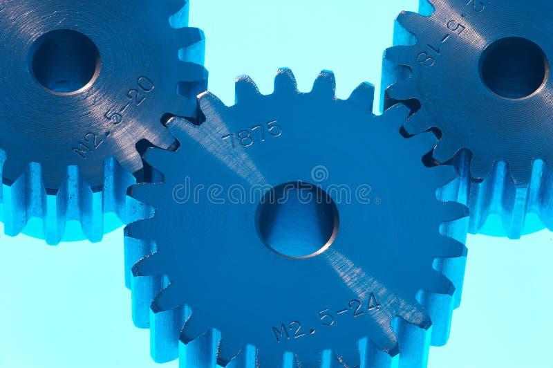 Blauer Stahl stockfotografie