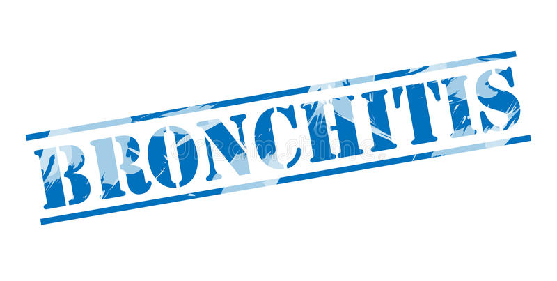 Blauer Stempel der Bronchitis vektor abbildung