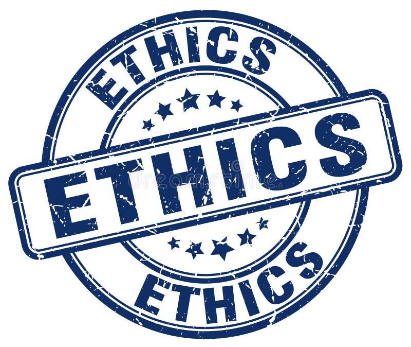 blauer Stempel der Ethik vektor abbildung