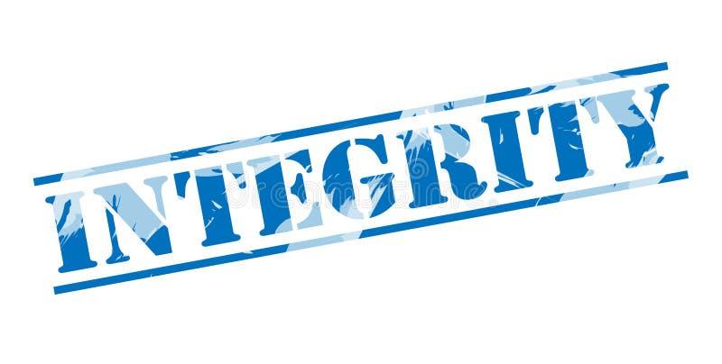Blauer Stempel der Integrität lizenzfreie abbildung