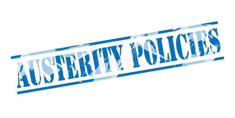 Blauer Stempel der Sparpolitiken lizenzfreie abbildung