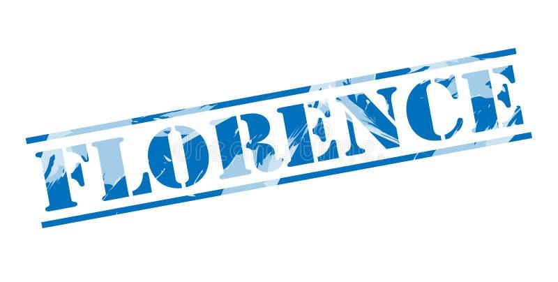 Blauer Stempel Florenz lizenzfreie abbildung