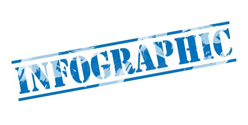 Blauer Stempel Infographic lizenzfreie abbildung