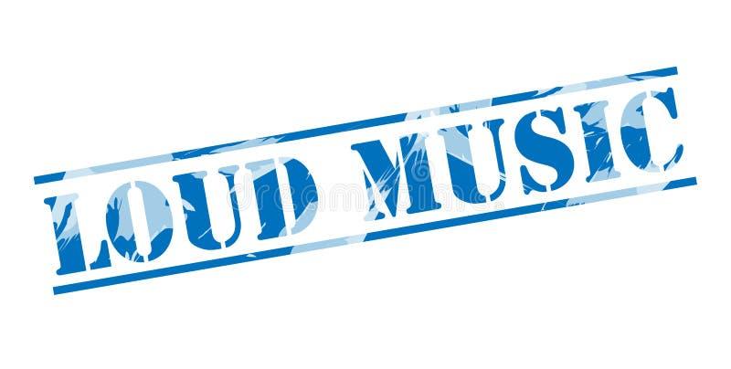 Blauer Stempelstempel der lauten Musik vektor abbildung