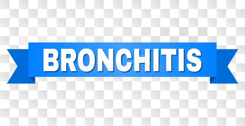 Blauer Streifen mit BRONCHITIS Titel stock abbildung