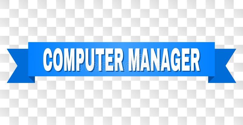 Blauer Streifen mit COMPUTER-MANAGER Title lizenzfreie abbildung