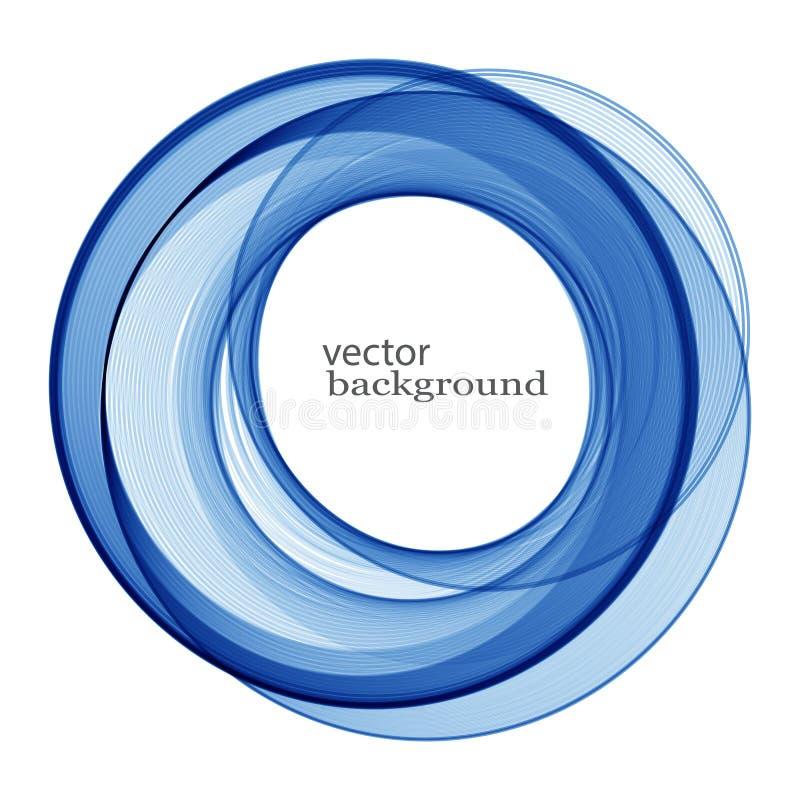 Blauer Strudel des Vektors lizenzfreie abbildung