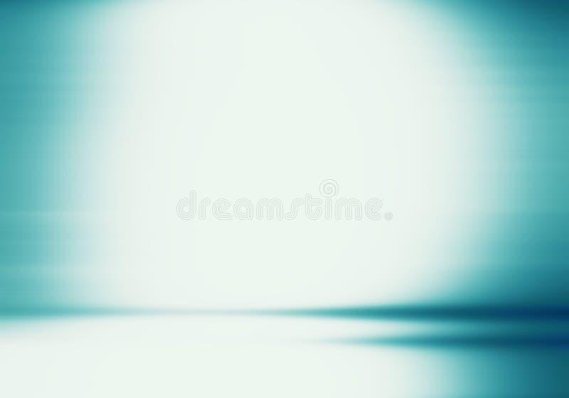 Blauer Studiobrunnenluxusgebrauch als Hintergrund, Plan und presentati stock abbildung