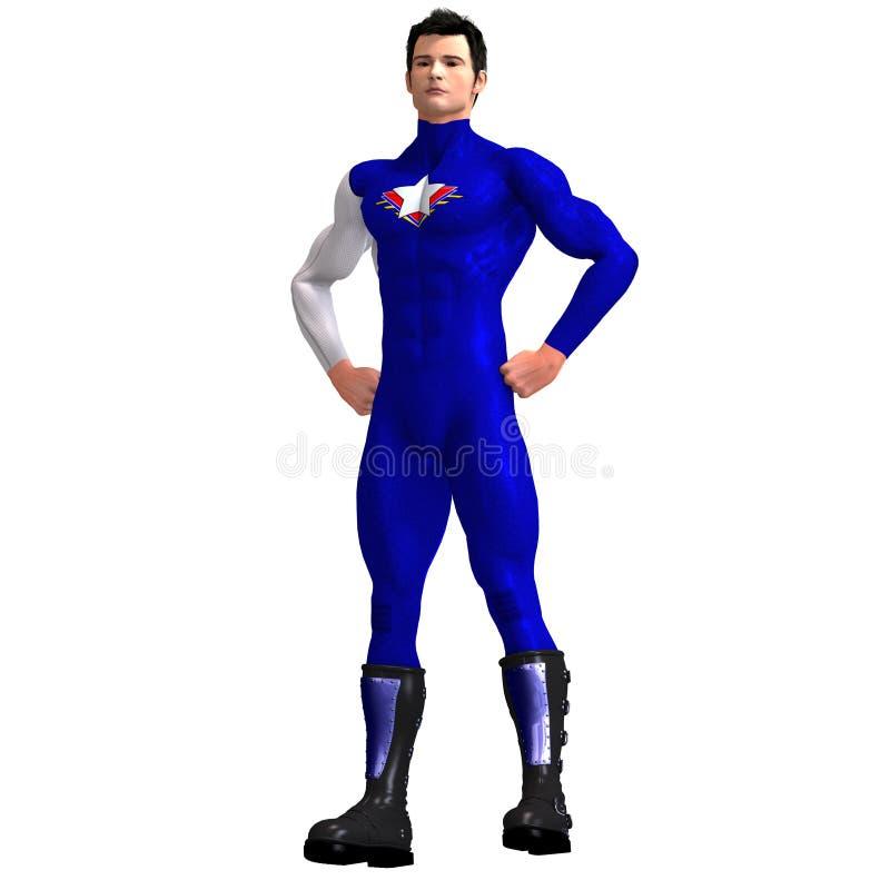 Blauer Superheld vektor abbildung