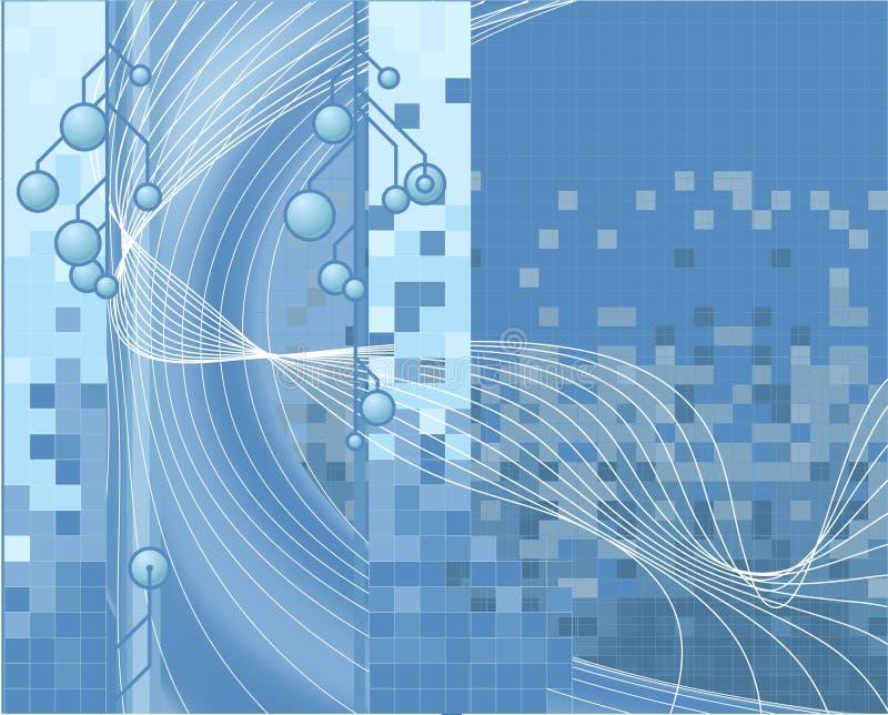 Blauer Technologie-Hintergrund lizenzfreie abbildung
