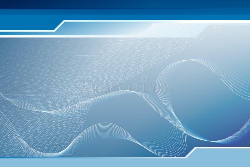 Blauer Technologiehintergrund vektor abbildung