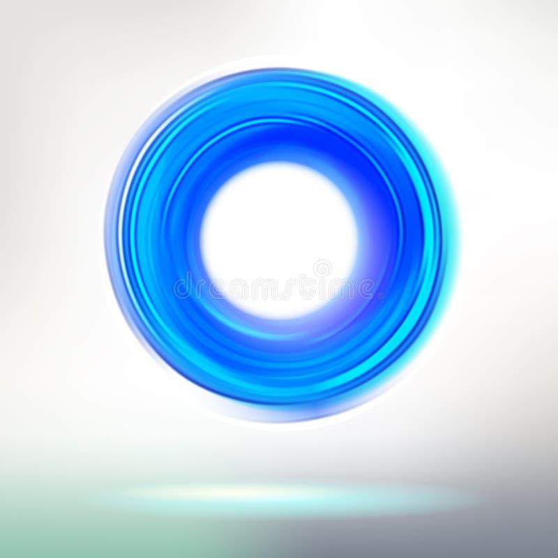 Blauer Technologiering vektor abbildung