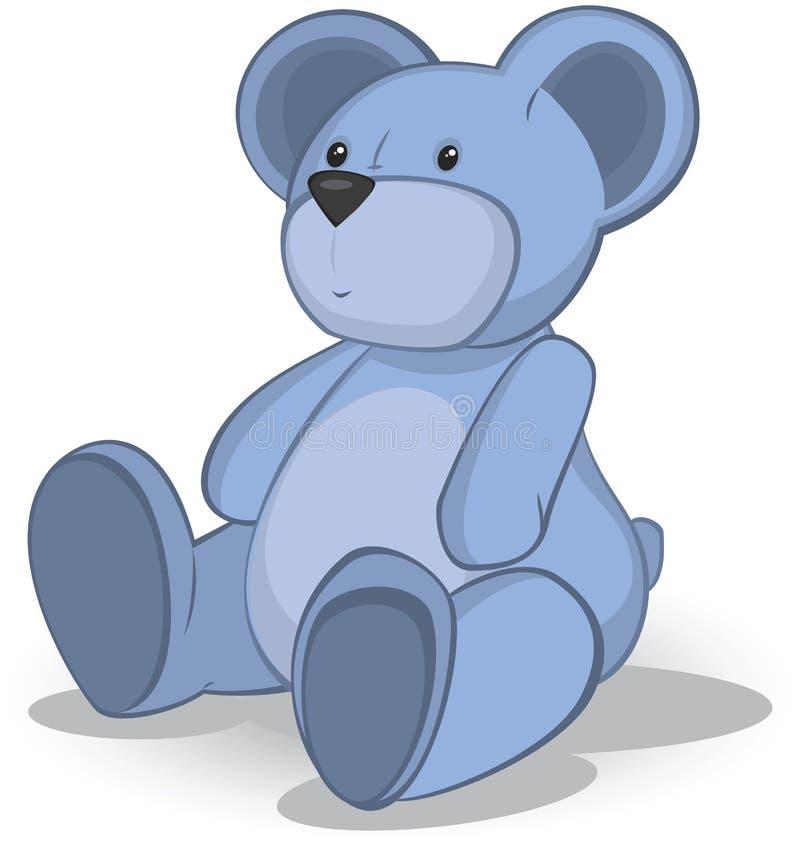 Blauer Teddybär vektor abbildung