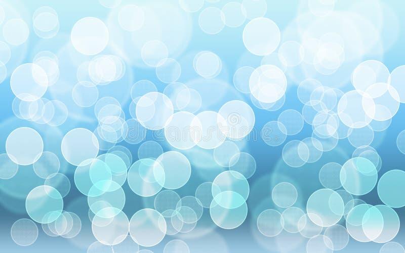 Blauer Ton bokeh Lichthintergrund stockbild