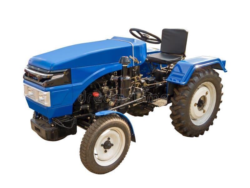 Blauer Traktor lizenzfreies stockbild