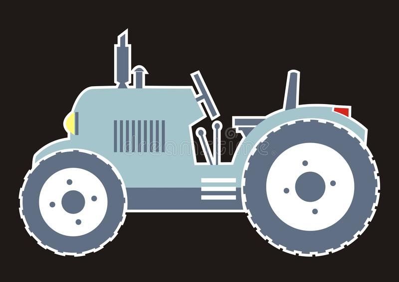 Blauer Traktor stock abbildung