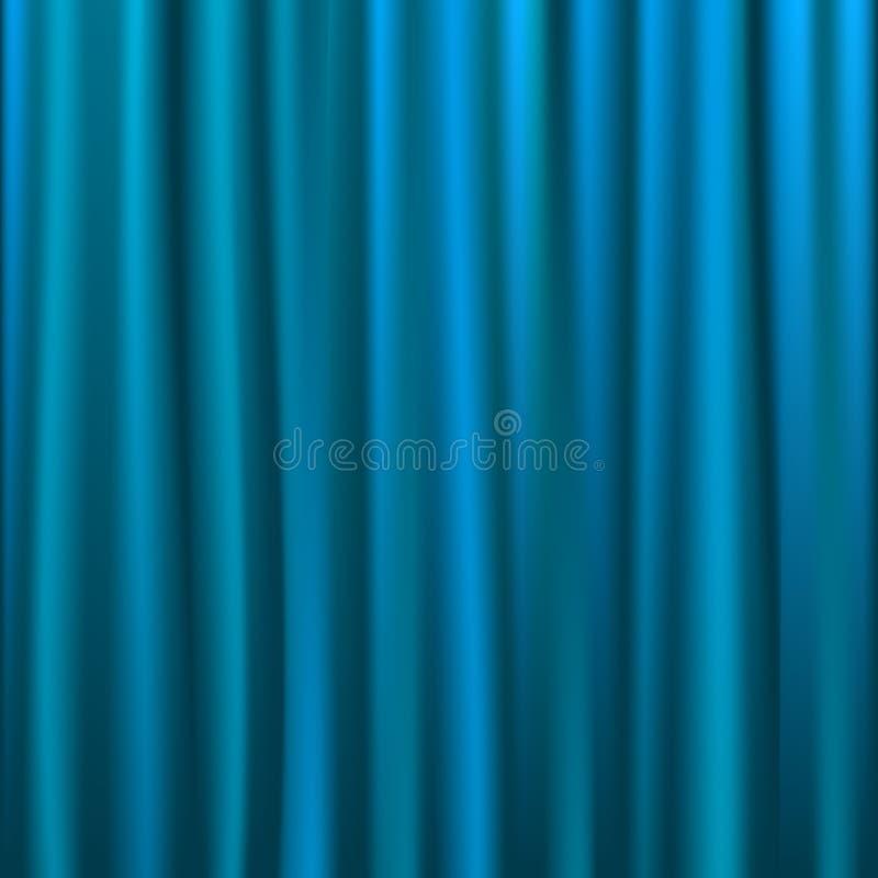 Blauer Trennvorhang vektor abbildung