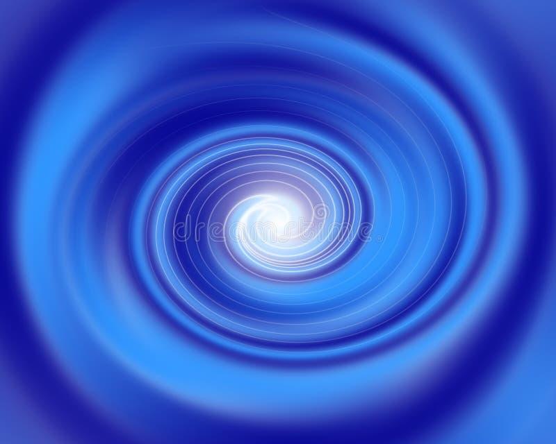 Blauer Tunnel lizenzfreie abbildung