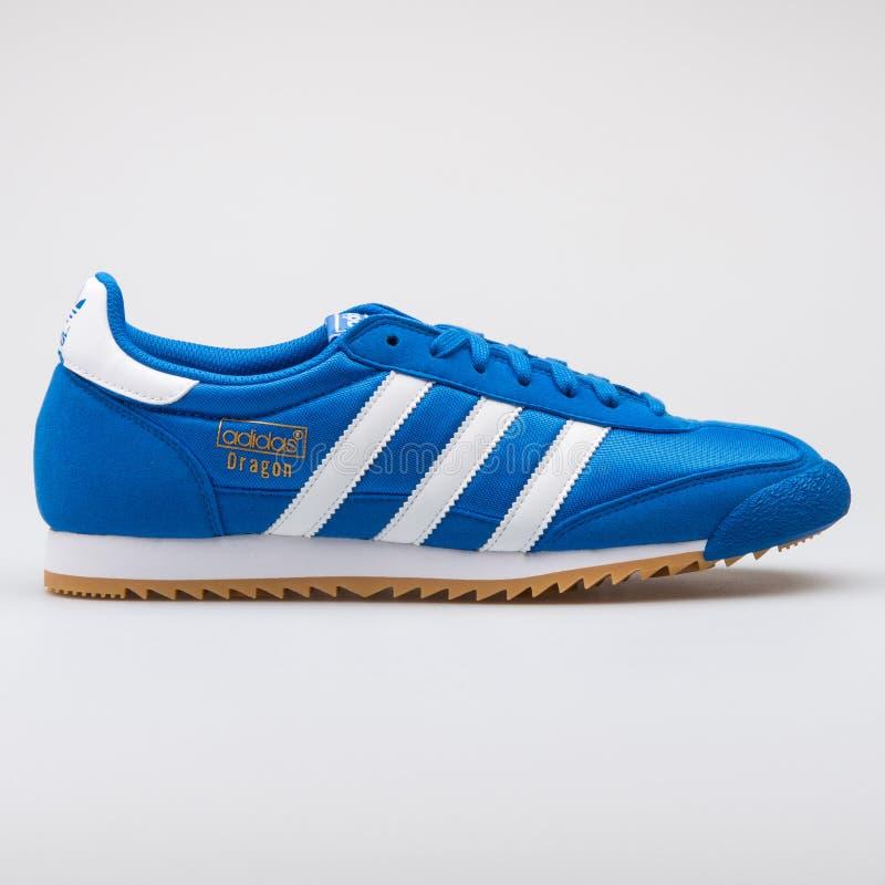 Blauer Turnschuh Adidas-Drachen OG lizenzfreies stockfoto