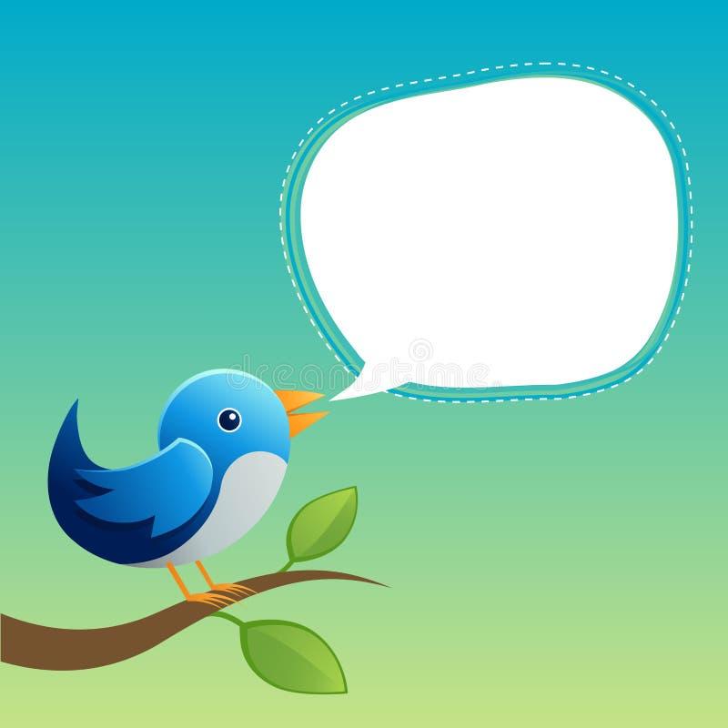 Blauer Twitter lizenzfreie abbildung