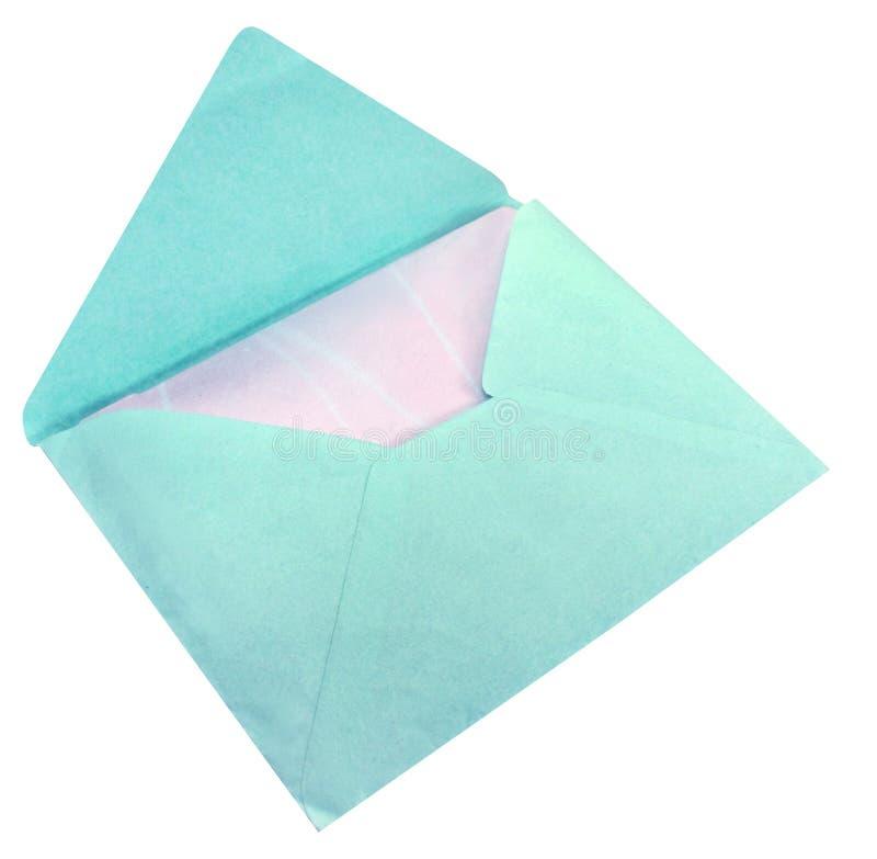 Blauer Umschlag stockbilder