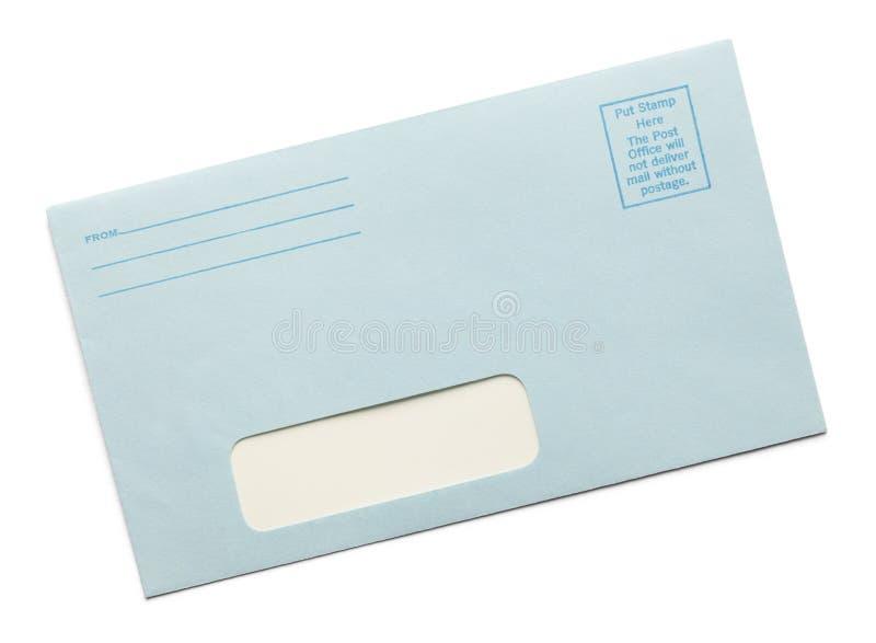 Blauer Umschlag lizenzfreies stockbild