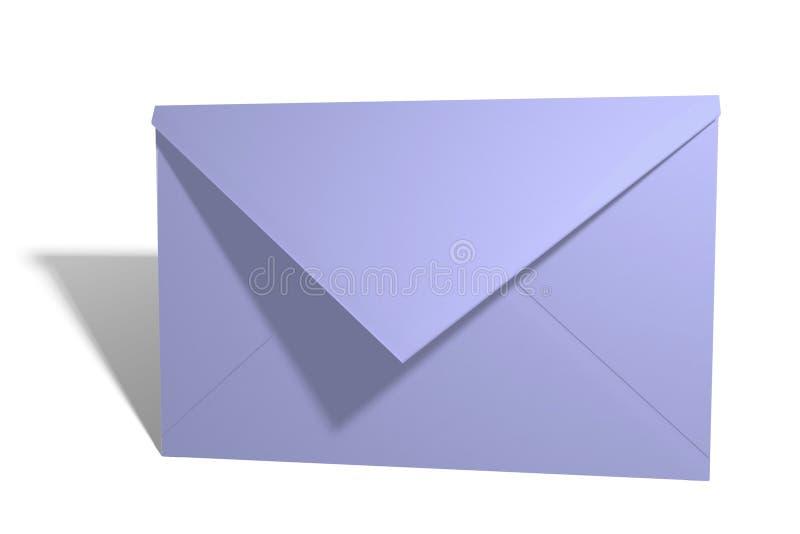 Blauer Umschlag lizenzfreie abbildung