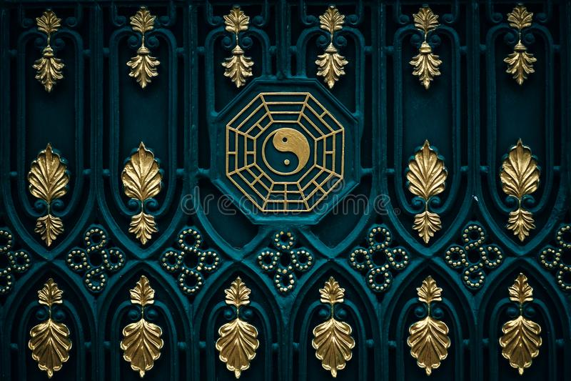 Blauer und brauner Yang-Illustration stockfotos