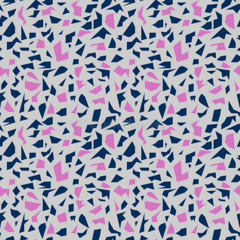 Blauer und rosa Terrazzo lizenzfreie abbildung