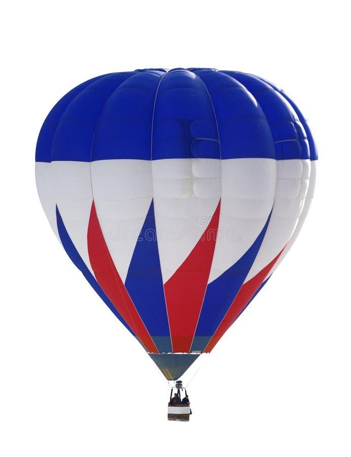 Blauer und roter Ballon stockfotografie