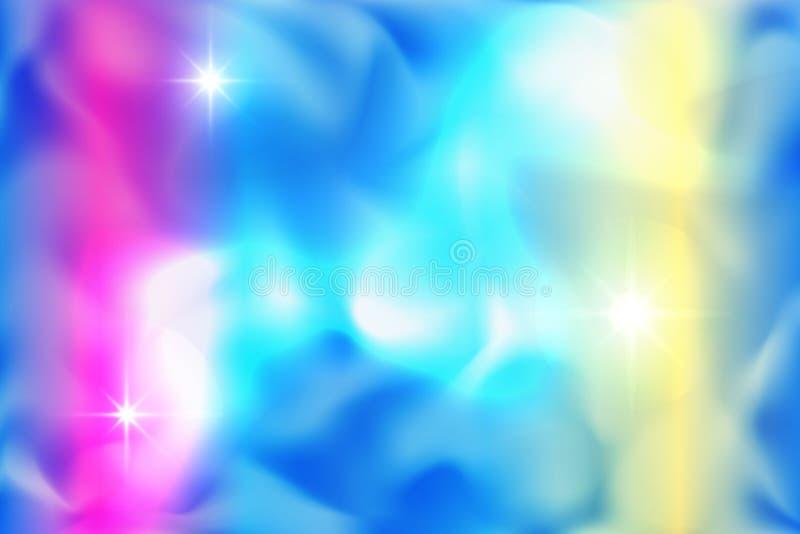 Blauer und roter gewellter Rauch-Vektor-Hintergrund stock abbildung
