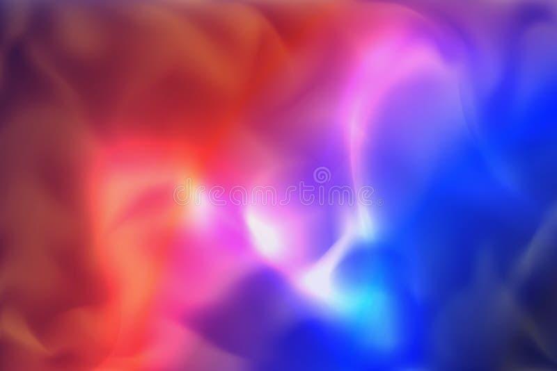 Blauer und roter gewellter Rauch-Vektor-Hintergrund vektor abbildung