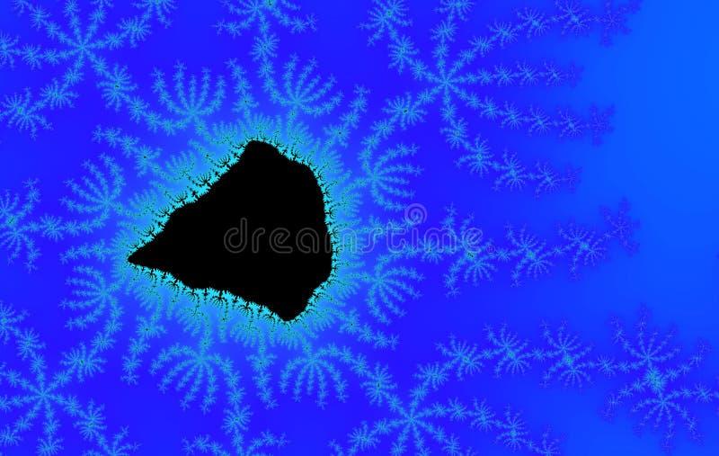 Blauer und schwarzer abstrakter Hintergrund stockfoto