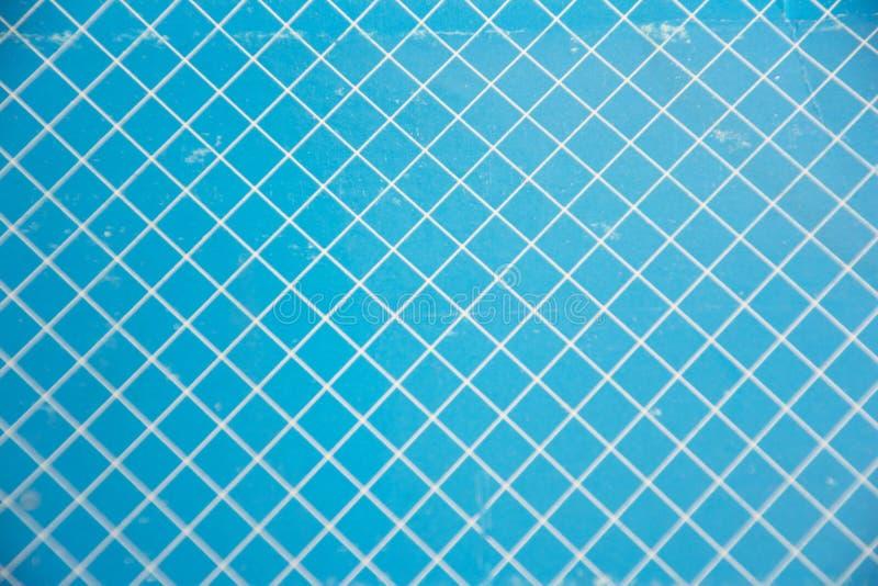 Blauer und weißer Gitterhintergrund stockbilder
