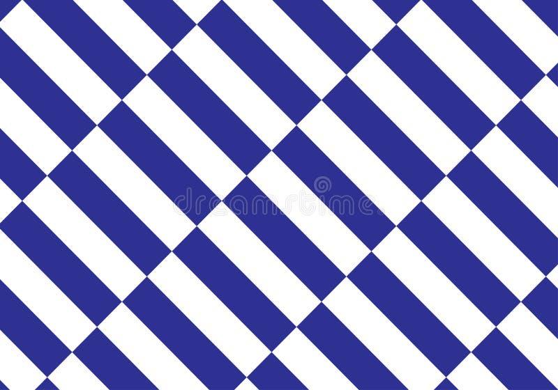 Blauer und weißer Plaidvektorhintergrund Auch im corel abgehobenen Betrag vektor abbildung