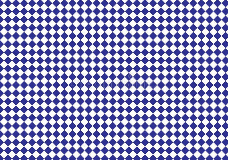 Blauer und weißer Plaidvektorhintergrund Auch im corel abgehobenen Betrag lizenzfreie abbildung