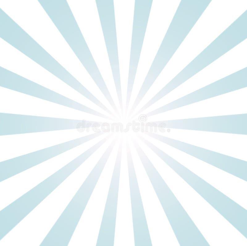 Blauer und weißer Sonnendurchbruch stock abbildung