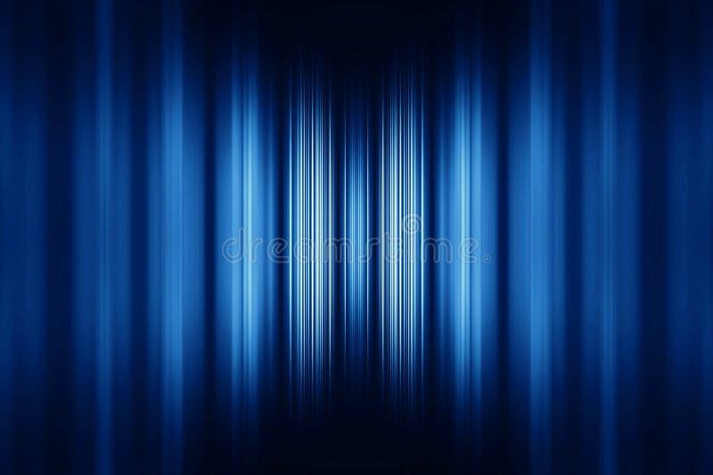 Blauer unscharfer Streifenhintergrund stockfotografie