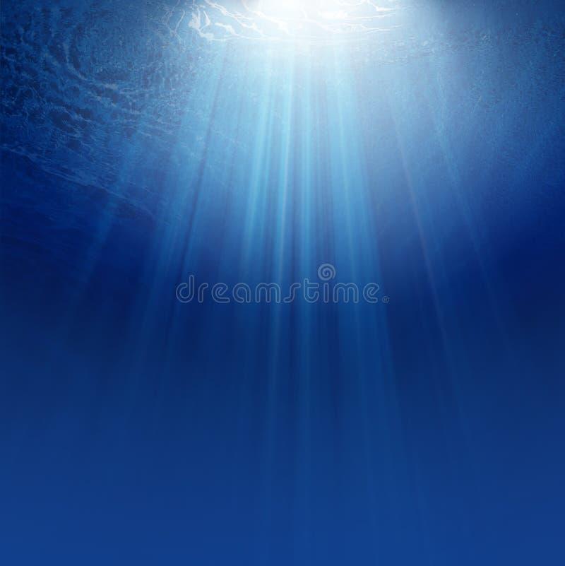 Blauer Unterwasserhintergrund stockfotografie