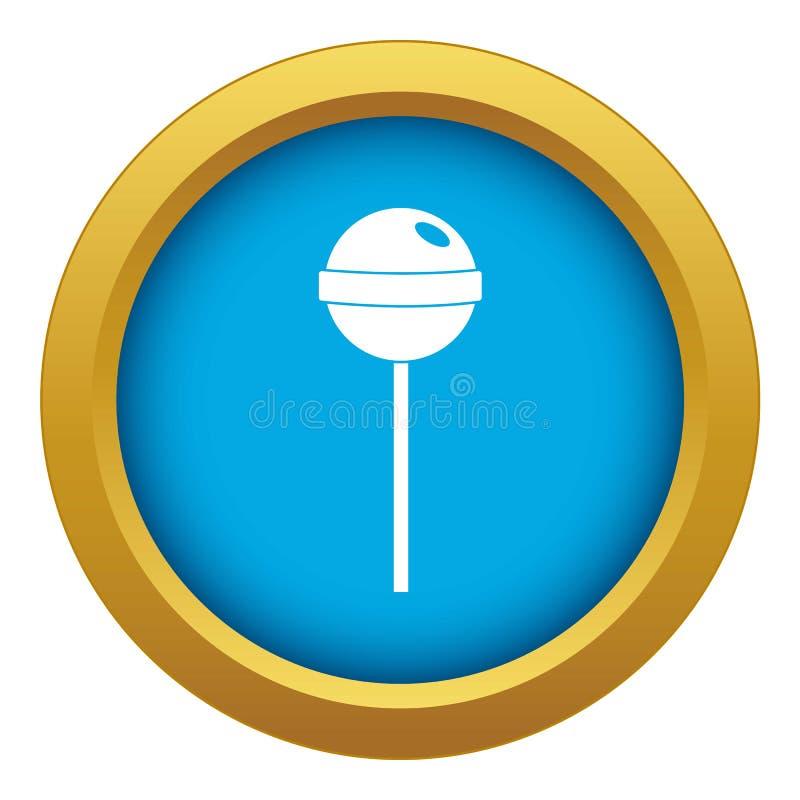 Blauer Vektor der geschmackvollen Süßigkeitsikone lokalisiert vektor abbildung
