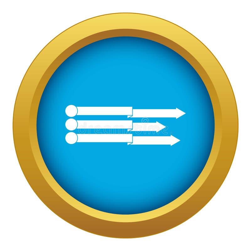 Blauer Vektor der Infographic-Pfeil-Ikone lokalisiert stock abbildung