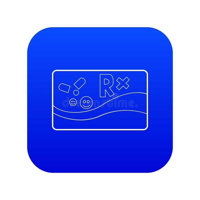 Blauer Vektor der medizinischen der Karte Ikone der chronischen Krankheiten lizenzfreie abbildung
