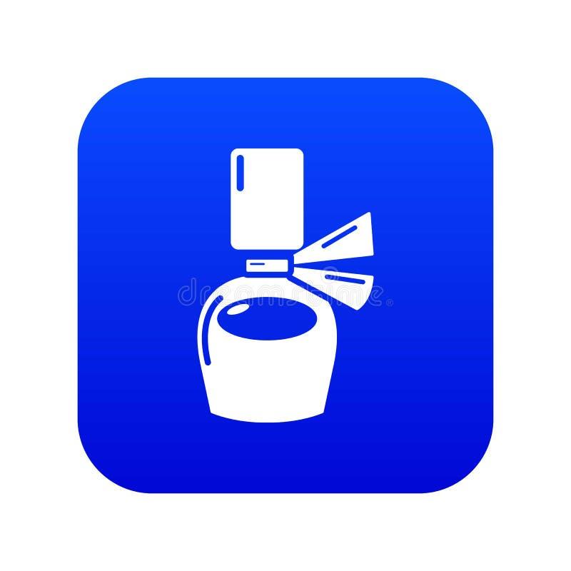 Blauer Vektor der Parfümflaschegeschenk-Ikone vektor abbildung