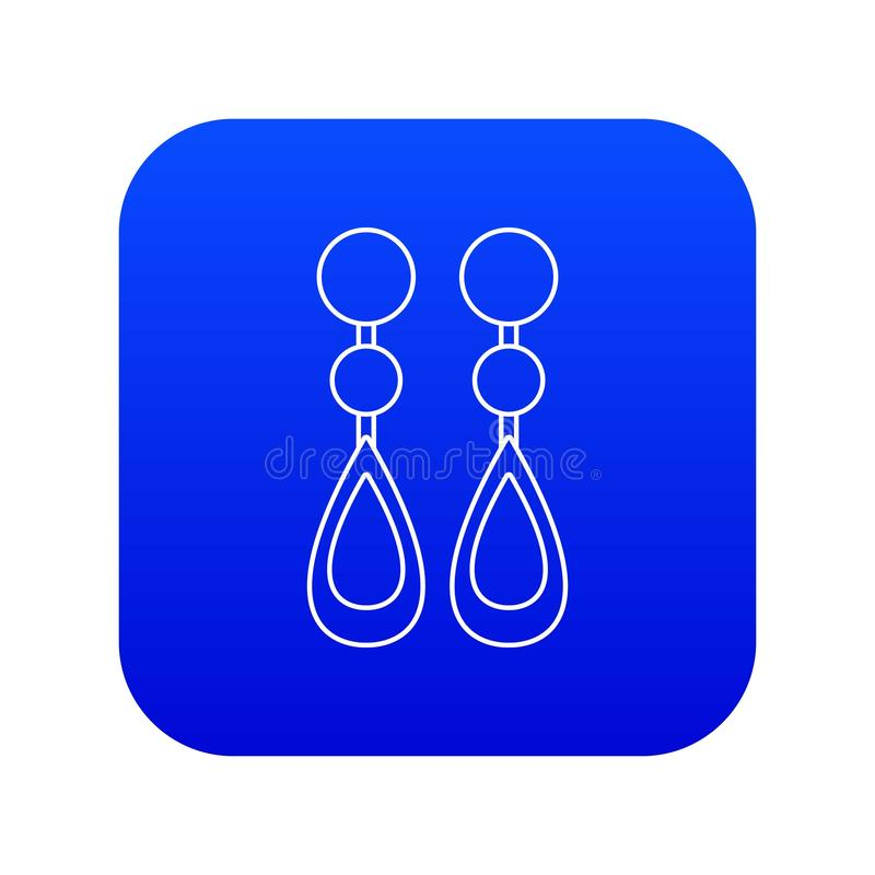 Blauer Vektor der Perlenohrring-Ikone vektor abbildung