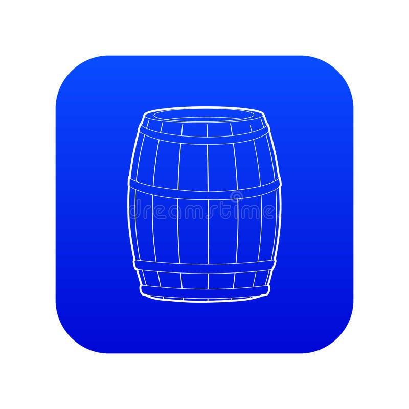 Blauer Vektor der Weinfass-Ikone lizenzfreie abbildung