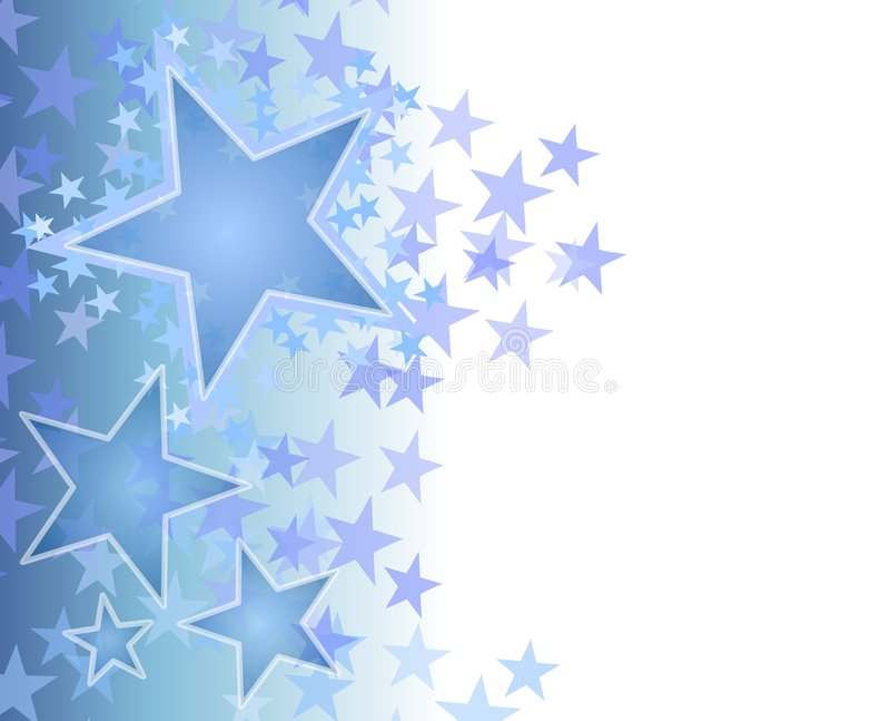 Blauer verblassender Stern-Hintergrund lizenzfreie abbildung
