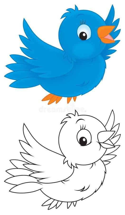 Blauer Vogel stock abbildung